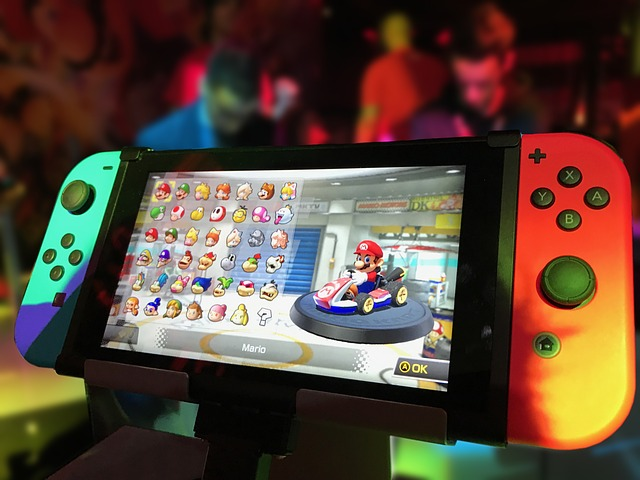 nintendo switch with mario game
